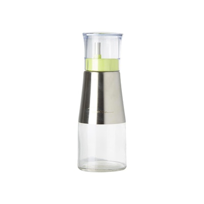 260ml Glass Body Stainless Steel Top Condiment Dispenser