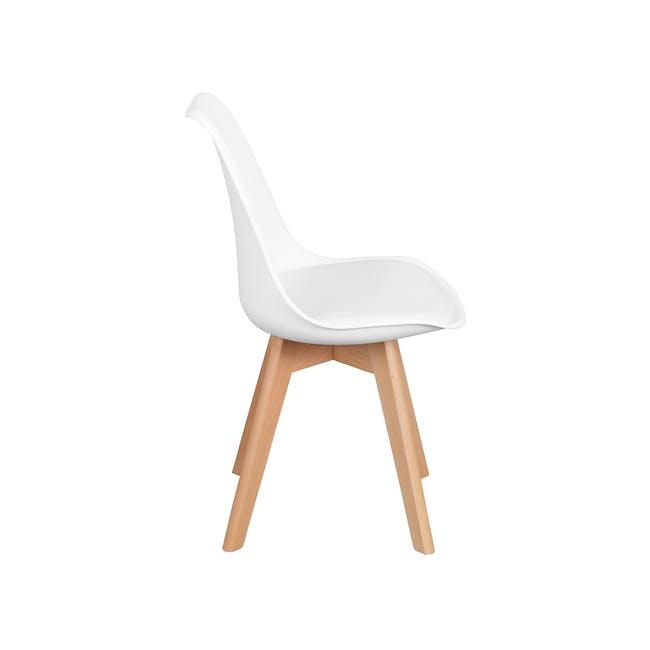 Linnett Chair - Natural, White - 2