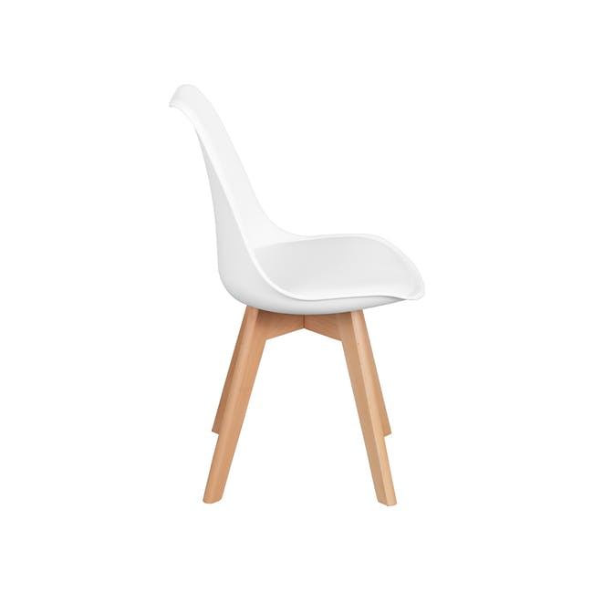 Jonah Extendable Table 1.4m in White with 4 Linnett Chair in Natural, White - 5
