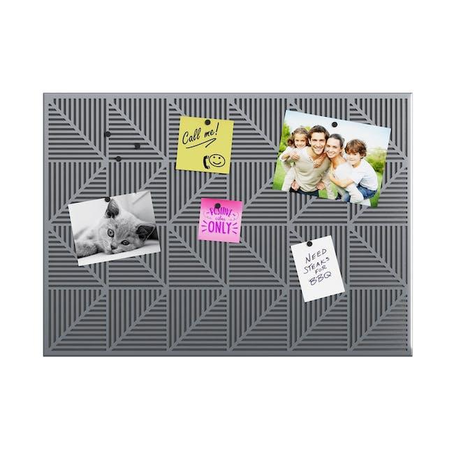 Trigon Metal Bulletin Board - Charcoal - 0