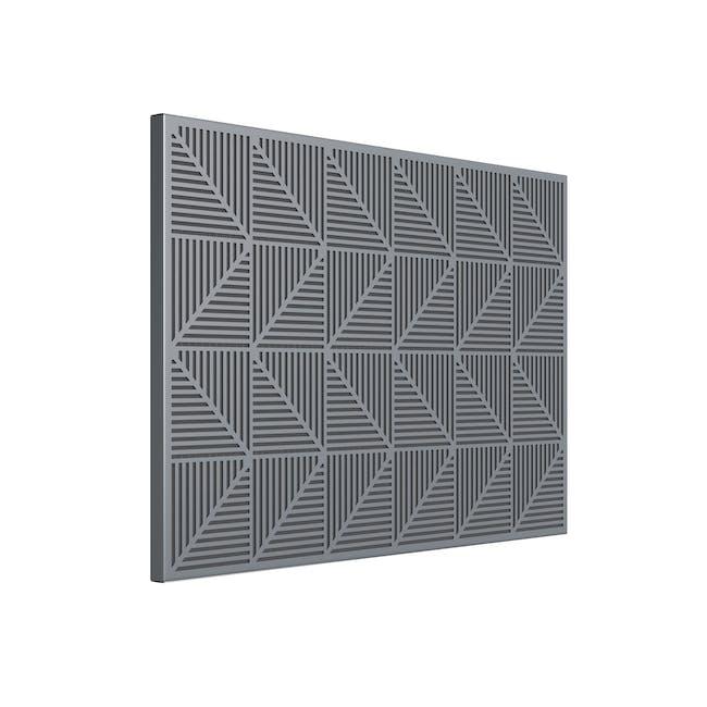 Trigon Metal Bulletin Board - Charcoal - 3