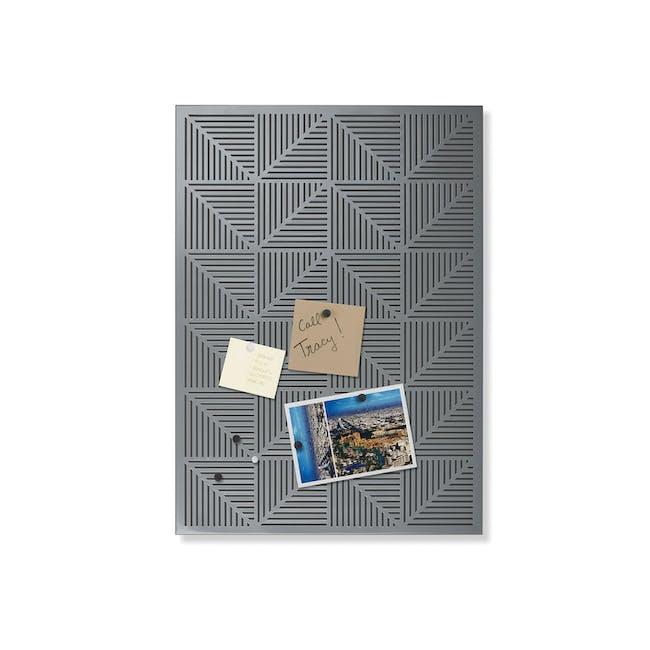 Trigon Metal Bulletin Board - Charcoal - 1