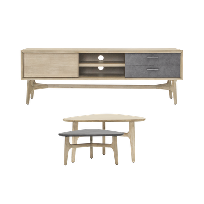 Hendrix TV Console 1.65m with Hendrix Coffee Table Set of 2 - Image 1