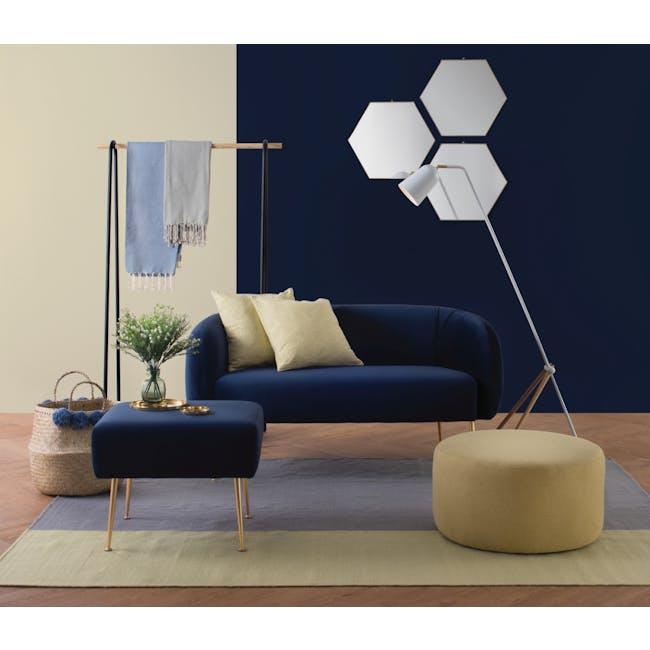 Alero 2 Seater Sofa - Midnight Blue (Velvet) - 1