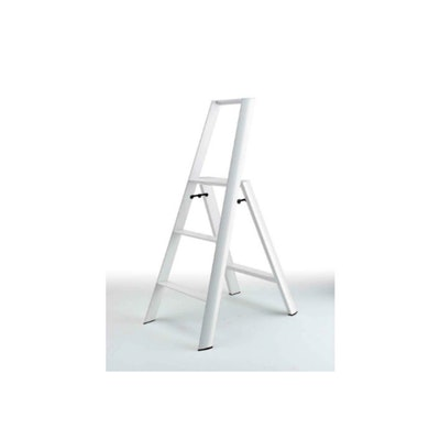 Hasegawa 3 Step Aluminium Ladder – White - Image 1