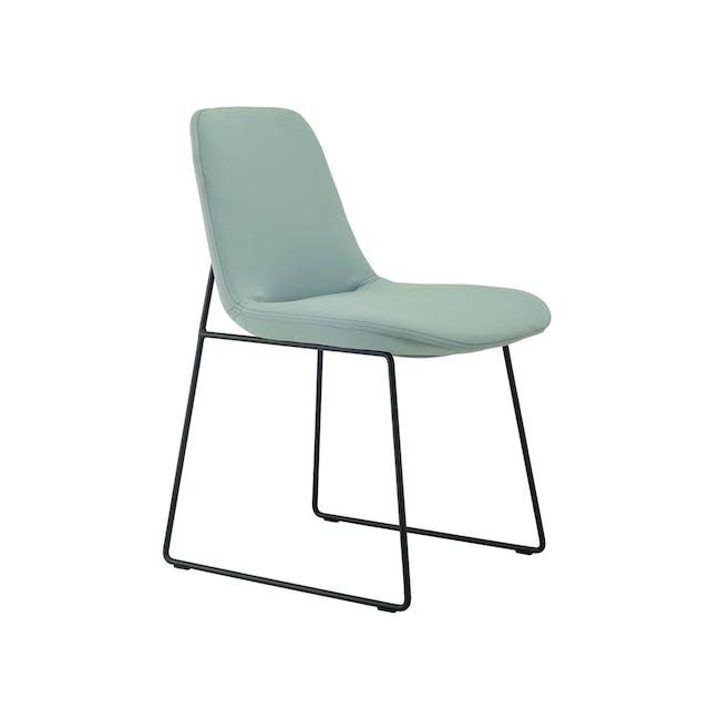 Aurora Dining Chair - Matt Black, Jade - 0