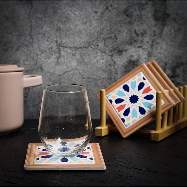 Peranakan Ceramic Cup Coaster - Poppy - 1