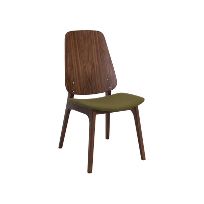 Maddie Dining Chair - Walnut, Olive - Image 1