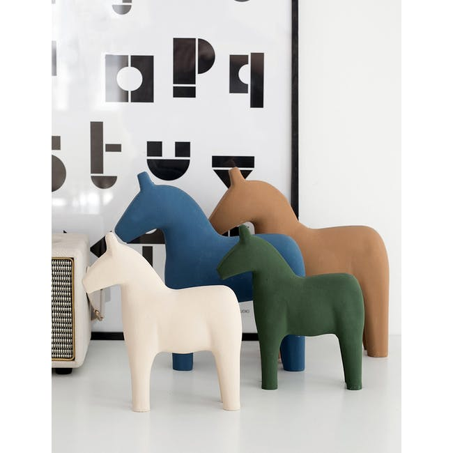 Molly Wooden Horse - Ivory - 2