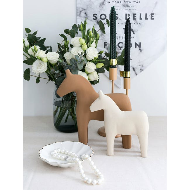 Molly Wooden Horse - Ivory - 1