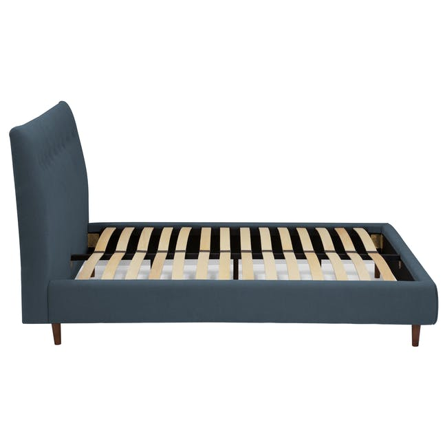Ronan Queen Bed in Midnight with 2 Weston Bedside Tables - 6