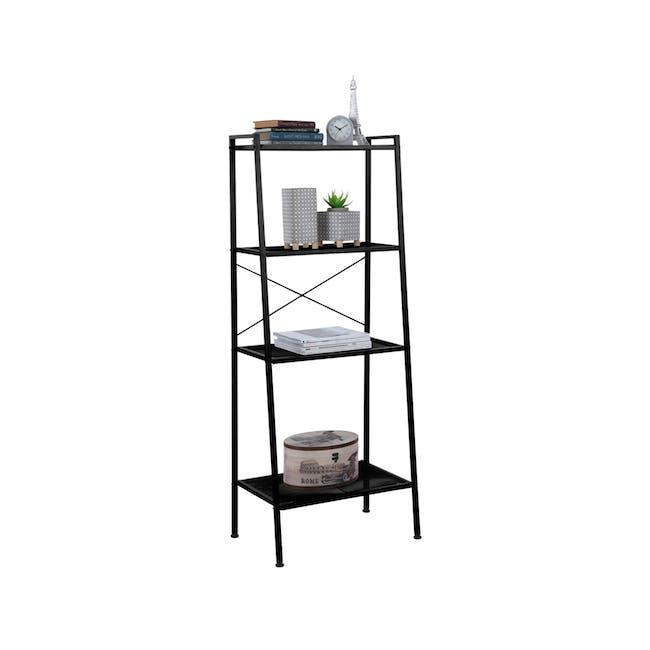 Kingston 4-Tier Shelf 60cm - Black - 2
