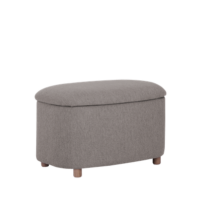 Galio Small Storage Pouf - Oak Brown - Image 1