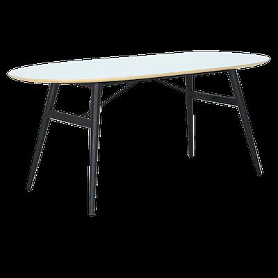 Fleming Table 1.8m - White, Black - Image 2