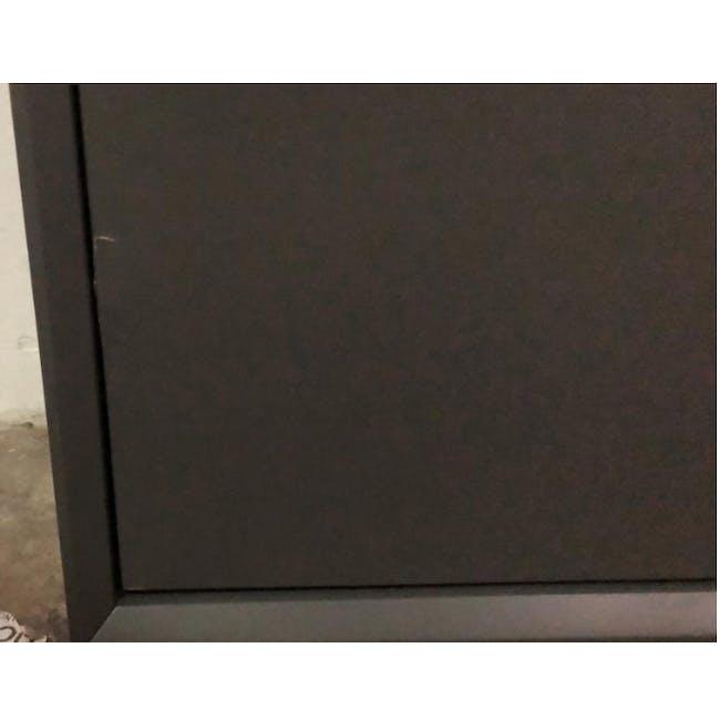 ( As-is ) Quen 4 Door Shoe Cabinet - Grey - 1 - 6