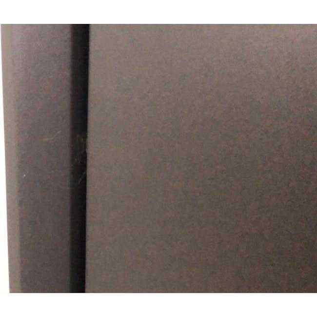 ( As-is ) Quen 4 Door Shoe Cabinet - Grey - 1 - 4