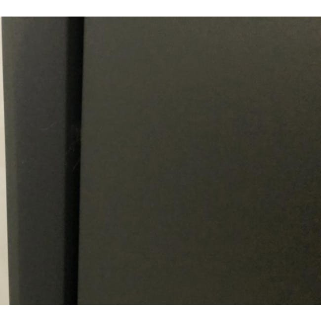 ( As-is ) Quen 4 Door Shoe Cabinet - Grey - 1 - 2