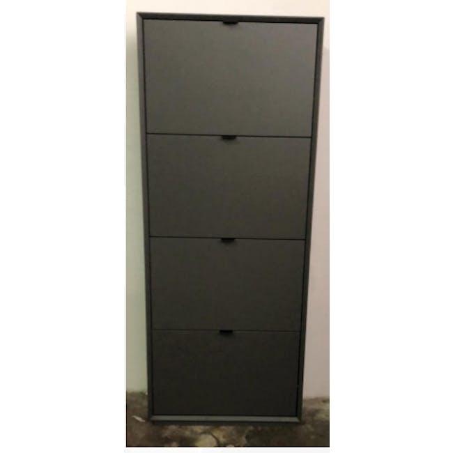 ( As-is ) Quen 4 Door Shoe Cabinet - Grey - 1 - 1