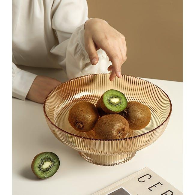 Reagan Glass Fruit/Display Bowl - Amber - Large - 4