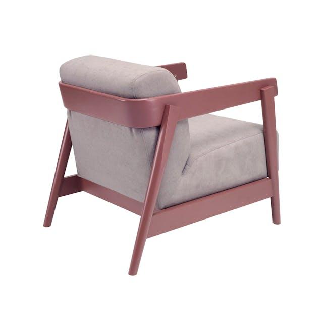 Daewood Lounge Chair - Penny Brown, Light Grey - 2