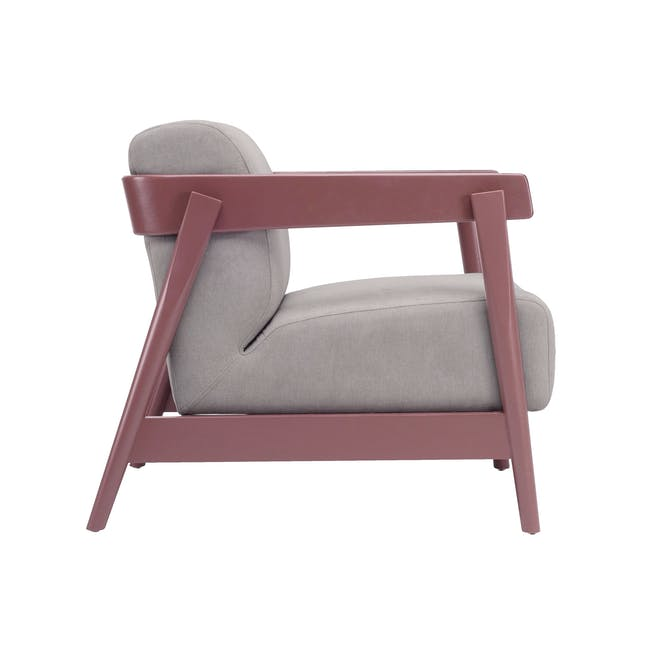 Daewood Lounge Chair - Penny Brown, Light Grey - 1