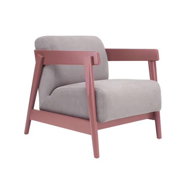 Daewood Lounge Chair - Penny Brown, Light Grey - 0