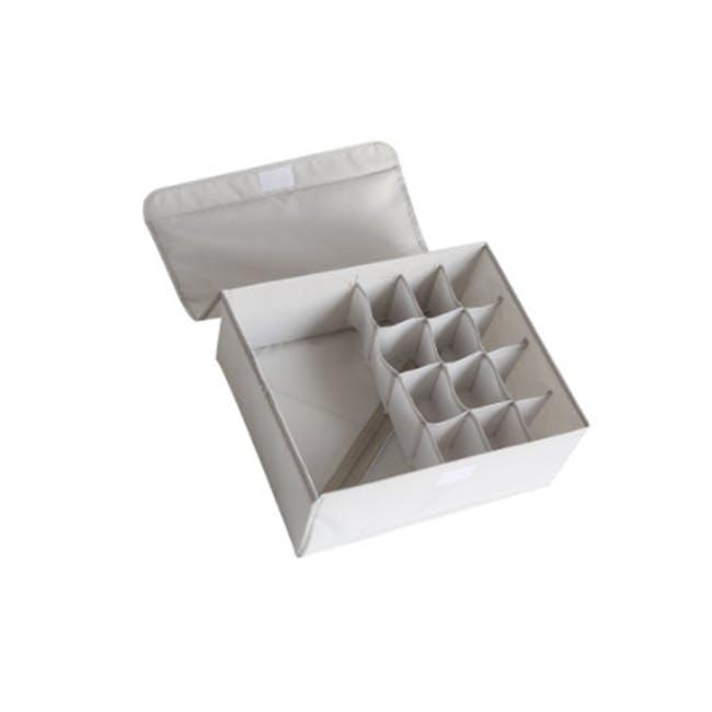 Hayley Wardrobe Storage Case 13 Compartments - Grey - 0