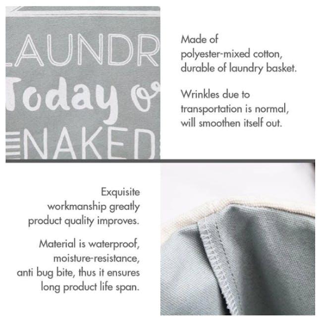 HOUZE Laundry Bag with Matt Steel Frame - White Checkered - 4