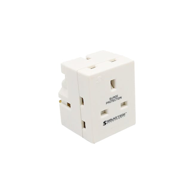SOUNDTEOH Multiway Adaptor With Surge Protection - 1