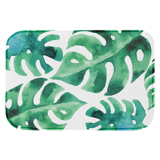 1688 - Lily Memory Foam Mat 40 x 60 cm - Monstera