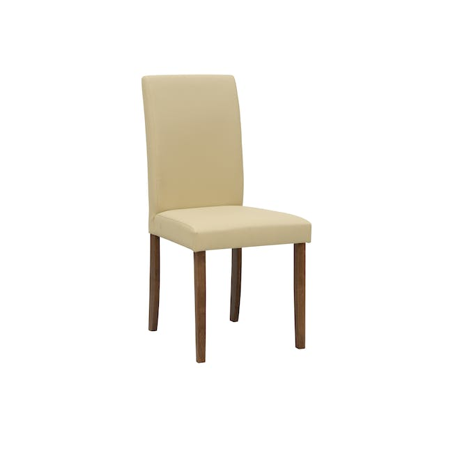 Dahlia Dining Chair - Cocoa, Cream (Faux Leather) - 0