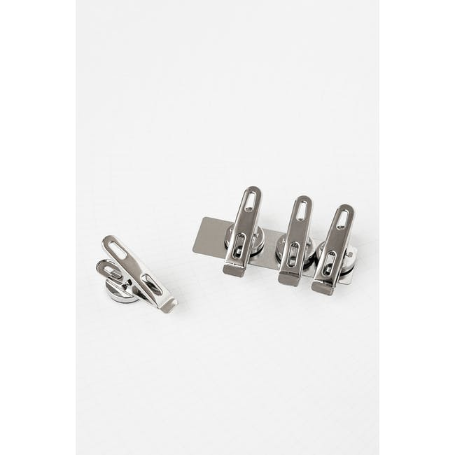 Elias Clips with Magnets - Silver (Set of 4) - 1