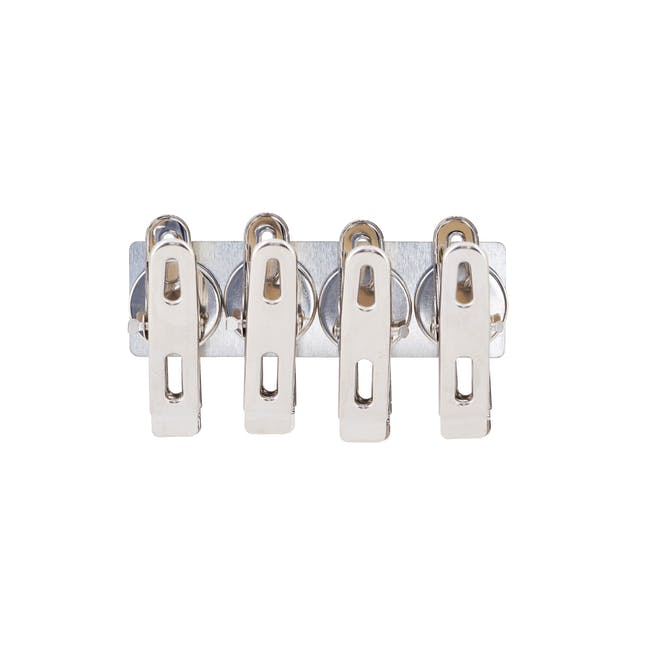 Elias Clips with Magnets - Silver (Set of 4) - 0