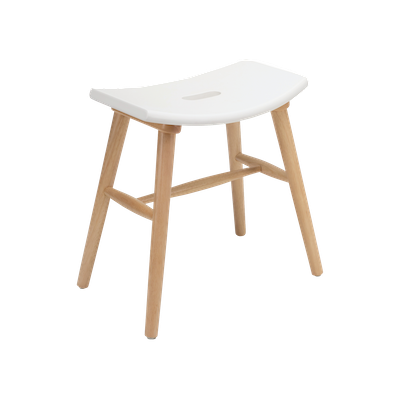 Holly Stool - Natural, White - Image 2