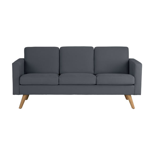 Helen 3 Seater Sofa with Helen 2 Seater Sofa - Hailstorm - 1