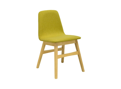Avice Fabric Seat Dining Chair - Natural, Oasis