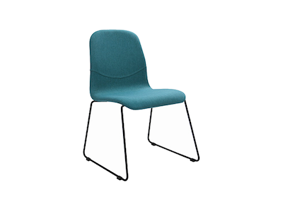 Ava Dining Chair - Matt Black, Emerald