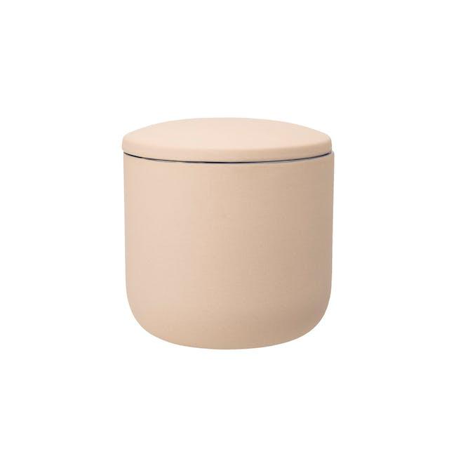 Belle Storage Jar with Lid - Light Brown (Medium) - 0