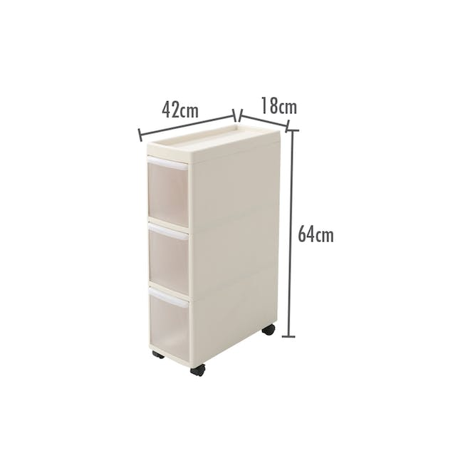 Modular 3 Tier Cabinet with Wheels - 1