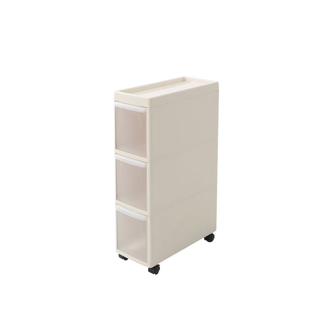 Modular 3 Tier Cabinet with Wheels - 0