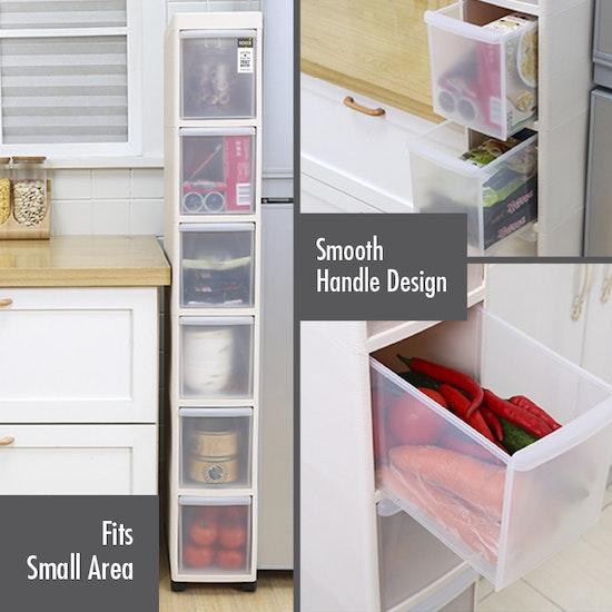 Houze - Modular 3 Tier Cabinet with Wheels