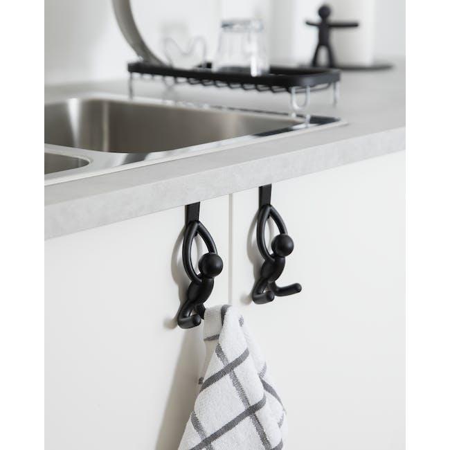 Buddy Cabinet Hooks - Black (Set of 2) - 7