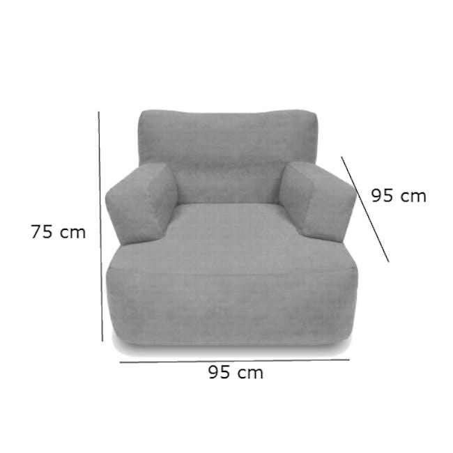 Flabber Bean Bag Sofa - Blue - 5