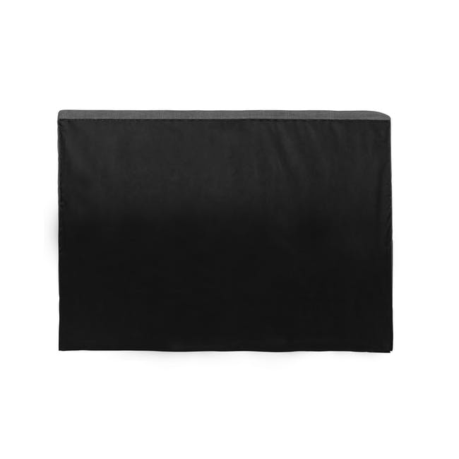 ESSENTIALS Super Single Headboard Storage Bed - Smoke (Fabric) - 5