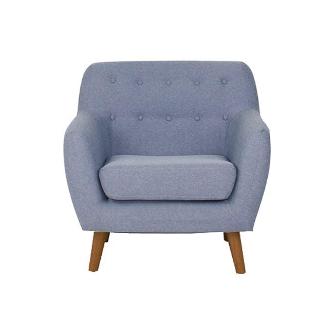 Emma 3 Seater Sofa with Emma Armchair - Dusk Blue - 13