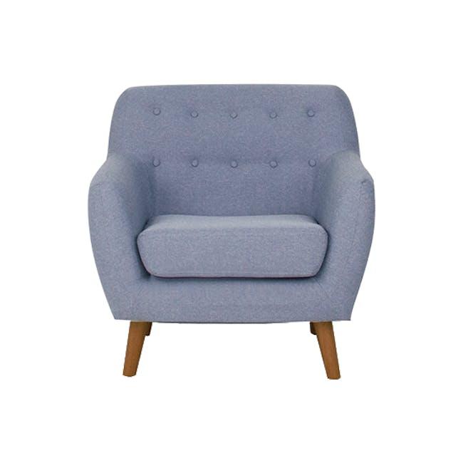 Emma 2 Seater Sofa with Emma Armchair - Dusk Blue - 12