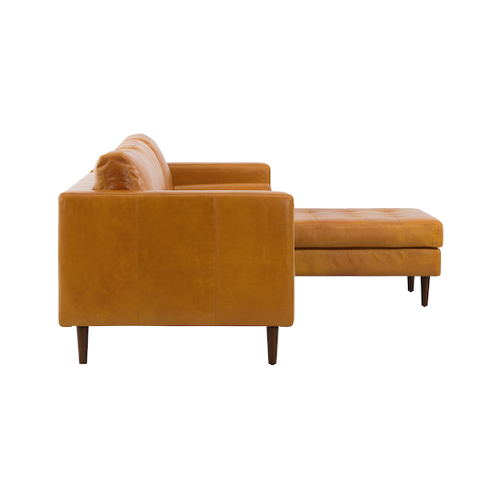 AK Avantgarde - Nolan L-Shaped Sofa - Butterscotch (Premium Waxed Leather)