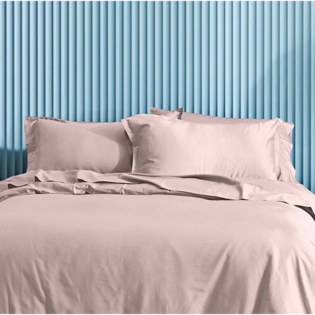 Canningvale Lustro Bamboo Quilt Cover Set - Valentina Pink (2 Sizes) - 1