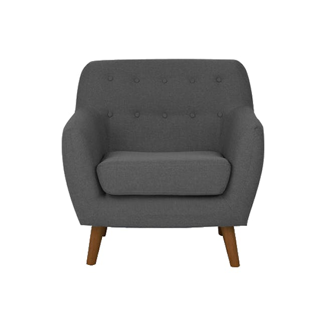 Emma 3 Seater Sofa with Emma Armchair - Raven - 13