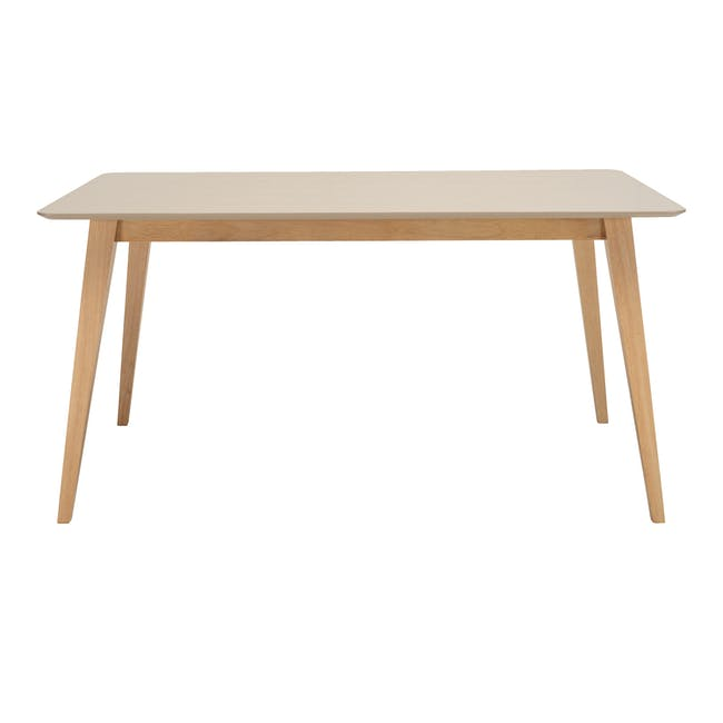 Ralph Dining Table 1.5m in Taupe Grey with 4 Miranda Chairs - 1